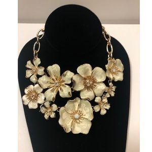 Anne Klein Flower Bouquet Drama Necklace